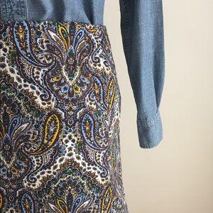 J. Crew Skirts - JCrew skirt | Paisley | Sz 0